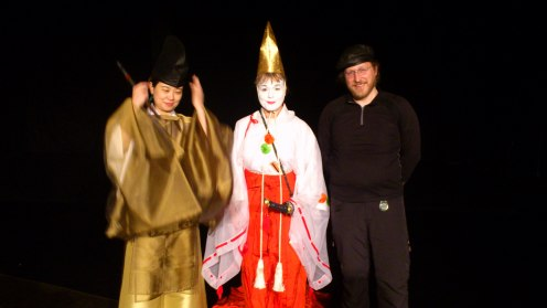 Photo from rehearsal in Gothenburg. From left: Kumiko Nonaka, Ami Skånberg Dahlstedt and Palle Dahlstedt